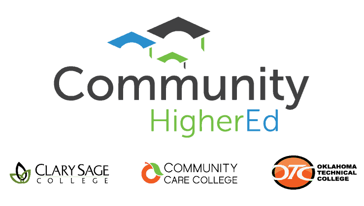 logo cloud of community higher ed schools
