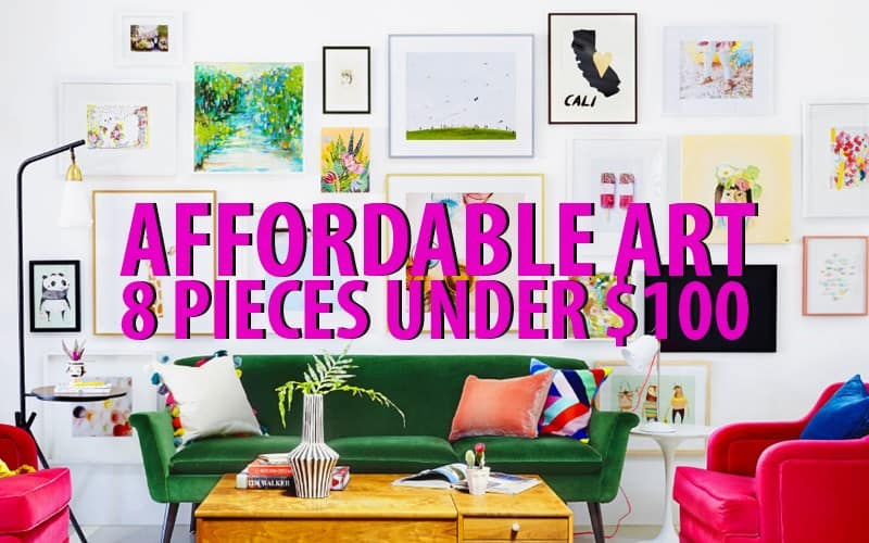 Affordable Art | 8 Pieces Under $100 - Clary Sage College