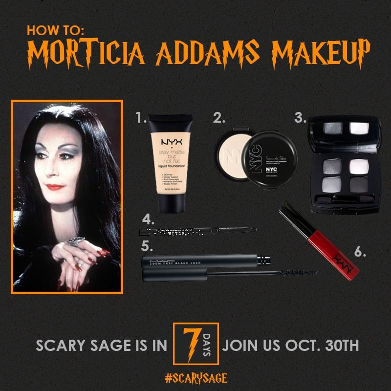 Light on eyes morticia addams family The Addams