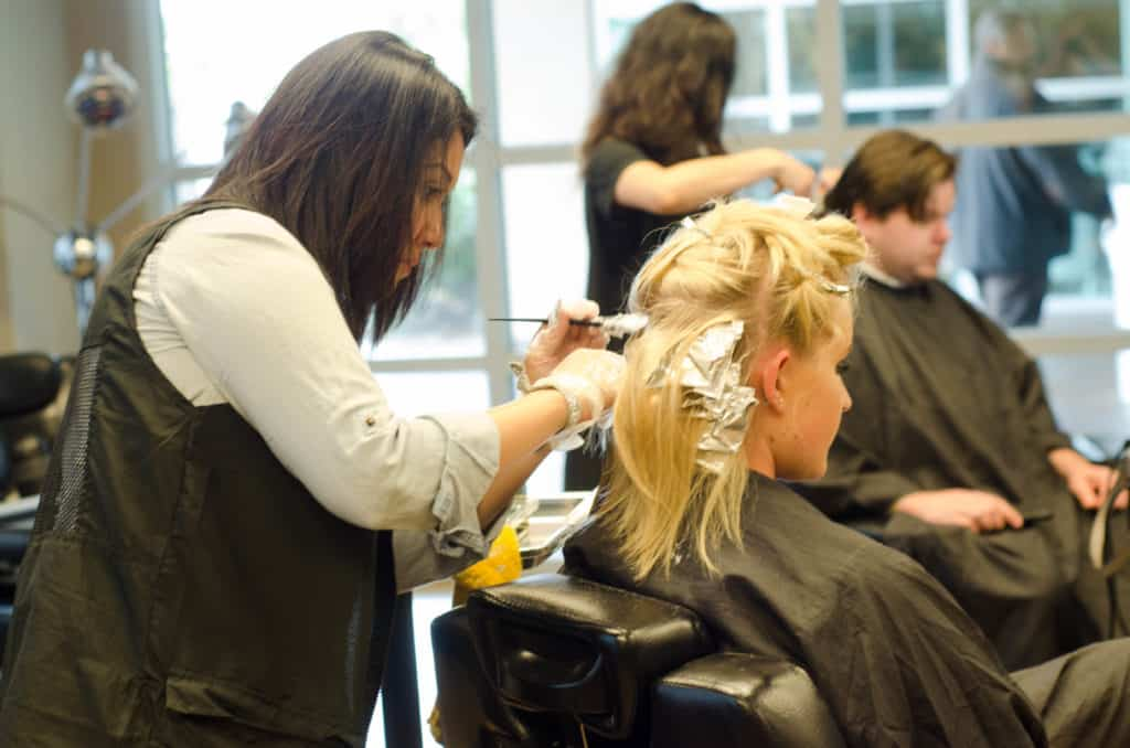 Clary Barber and Cosmetology Students