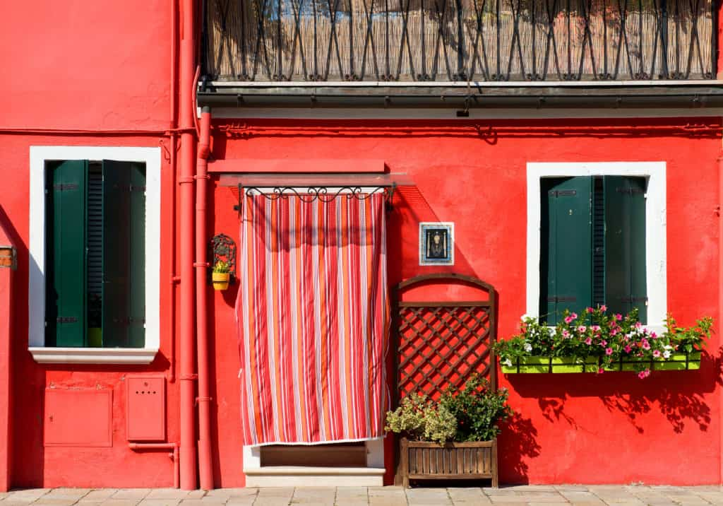 Red House in Venice, Italy