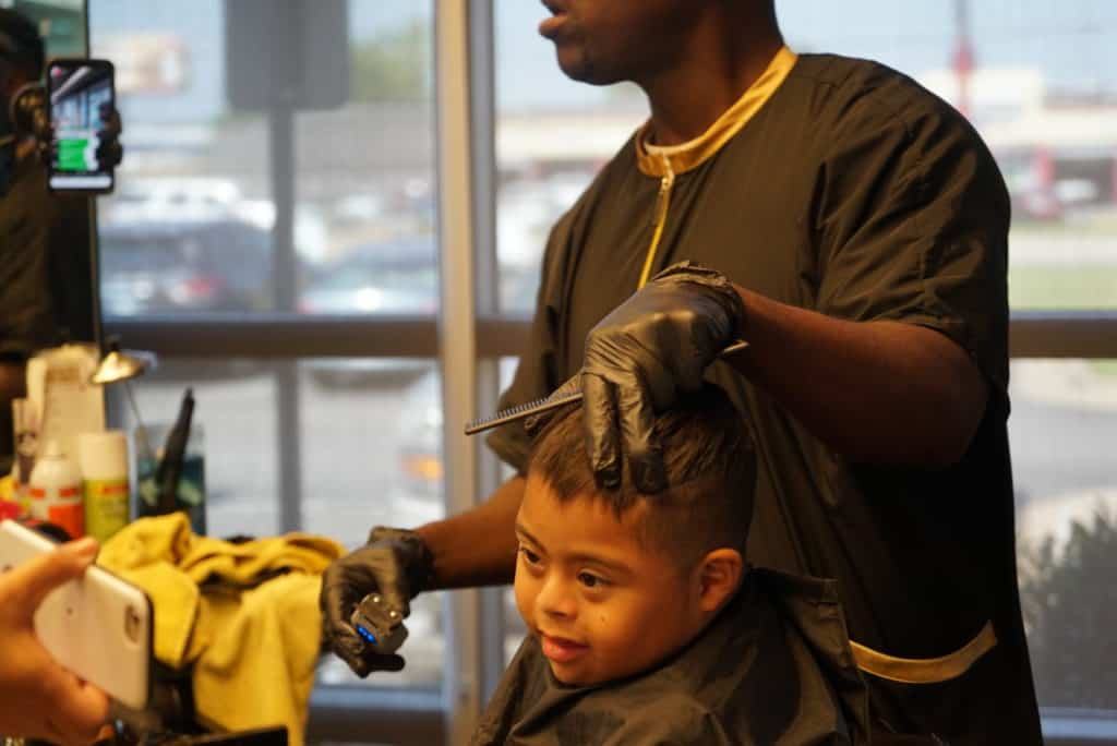 Clary Sage College Barber Students Volunteering in Tulsa