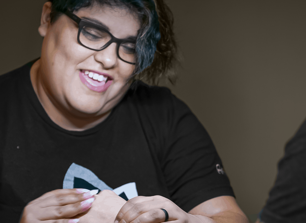 Clary Student Manicuring Nails
